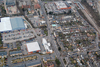 Photo of Villiers Street and Townshend Street from the air