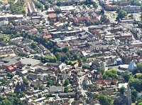 Hertford town centre from the air