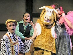 A scene from Jack and The Beanstalk at Castle Hall